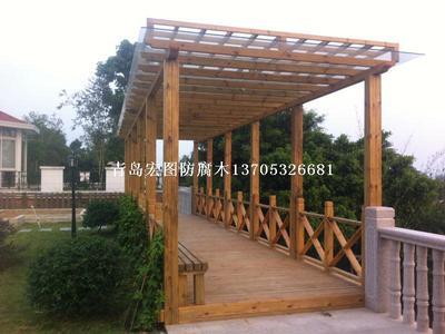 平度防腐木廊架